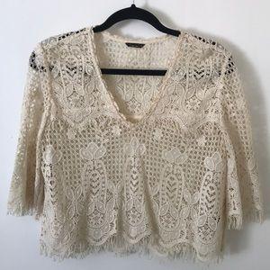 Dolce Vita 3/4 Sleeve Lace Shirt